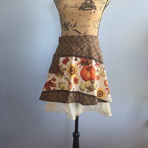 Other - Fall Harvest Brown and Gold Half Apron